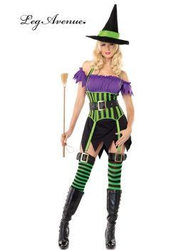 Costume Strega tre pezzi Halloween