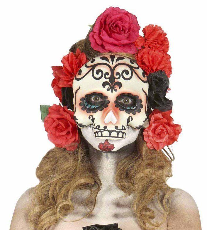 """Maschera """"Santa Muerte""""."""